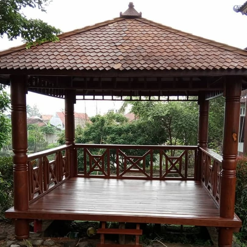 Harga Gazebo kayu kelapa 2x2