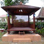 Harga Gazebo kayu kelapa 3x3